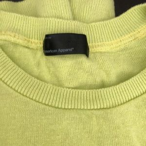 American apparel lime green sweater